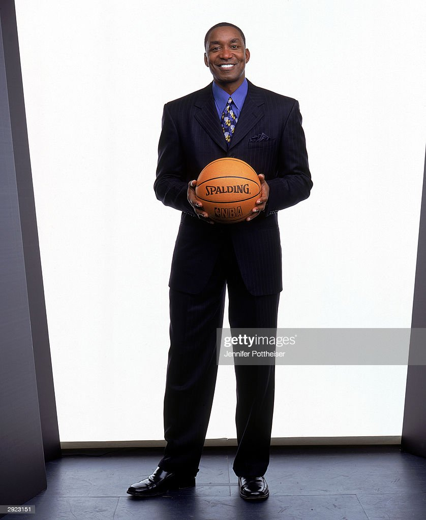 Isiah Thomas, President of Basketball Operations for the New York Knicks poses for a portrait at the Knicks practice facility on January 27, 2004 in Tarrytown, New York.