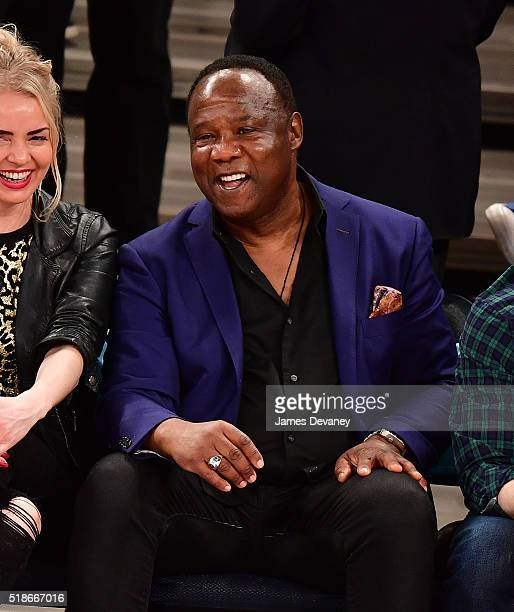 Isiah Whitlock attends the Brooklyn Nets vs New York Knicks game at Madison Square Garden on April 1 2016 in New York City