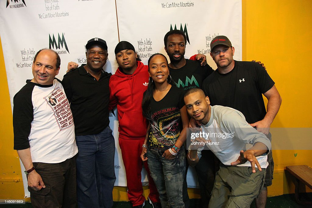 Isiah Whitlock Jr., Julito McCullum, Sonja Sohn, Jamie Hector, Domenick Lombardozzi and JD Williams attend the Moving Mountains Celebrity Paintball Tournament at NYC Paintball And Laser Tag on June 9, 2012 in New York City.