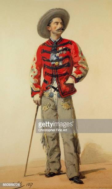 Isidore Pils FullLength Portrait of General Gallifet Dressed In Contre Guerillero Mexico Paris Musee De L Armee