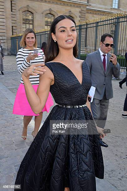 Isis Valverde arrives at the Dior Fashion Show during the Paris Fashion Week Womenswear Spring/Summer 2015 at Cour Carree du Louvre on September 26...