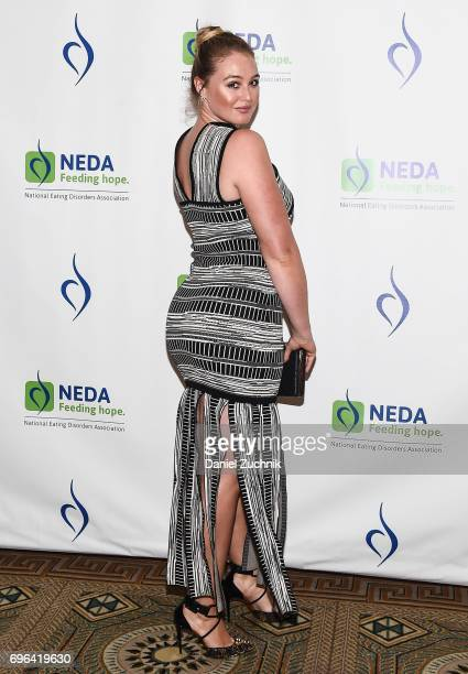 Iskra Lawrence attends the 15th Annual Benefit Gala 'An Evening Unmasking Eating Disorders' hosted by The National Eating Disorder Association at The...