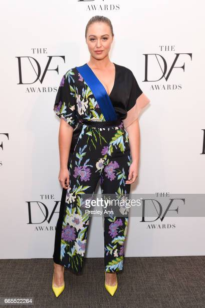 Iskra Lawrence attends The 8th Annual DVF Awards at United Nations on April 6 2017 in New York City