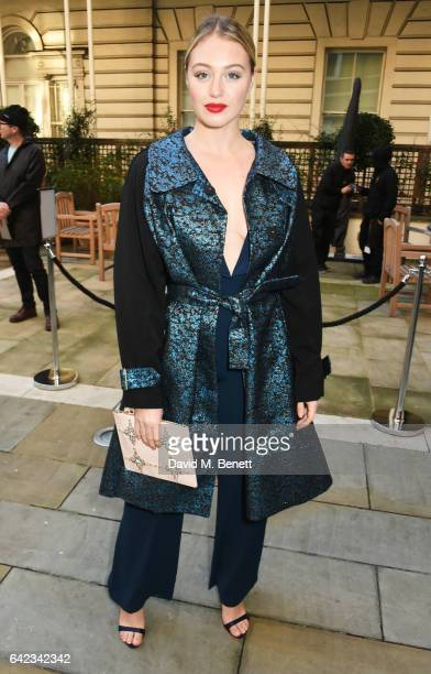 Iskra Lawrence attends the DAKS show at the Langham Hotel during the London Fashion Week February 2017 collections on February 17 2017 in London...