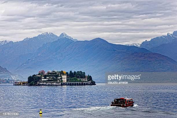 Isla Bella with Motorboat, Lake Maggiore
