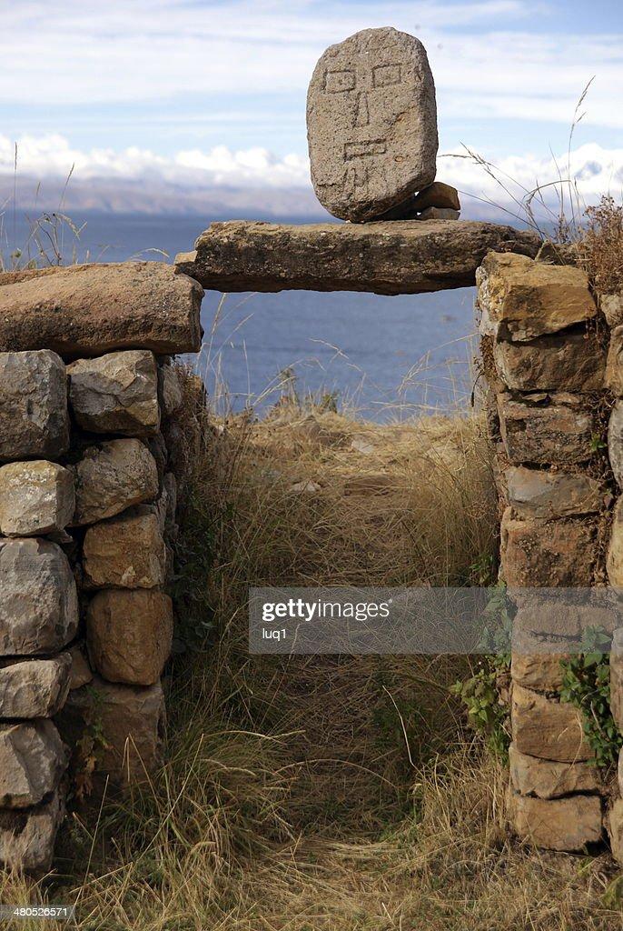Isla del Sol, Titicaca lake, Bolivia : Stock Photo