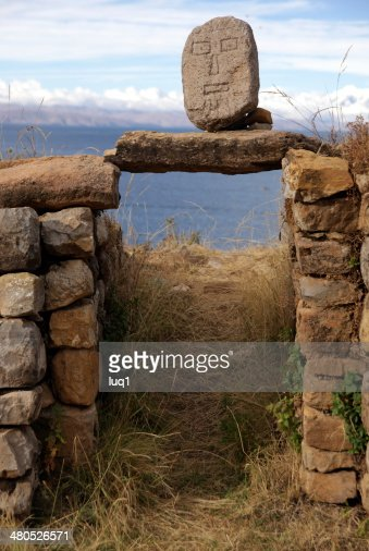 Isla del Sol, Titicaca lake, Bolivia : Stock Photo