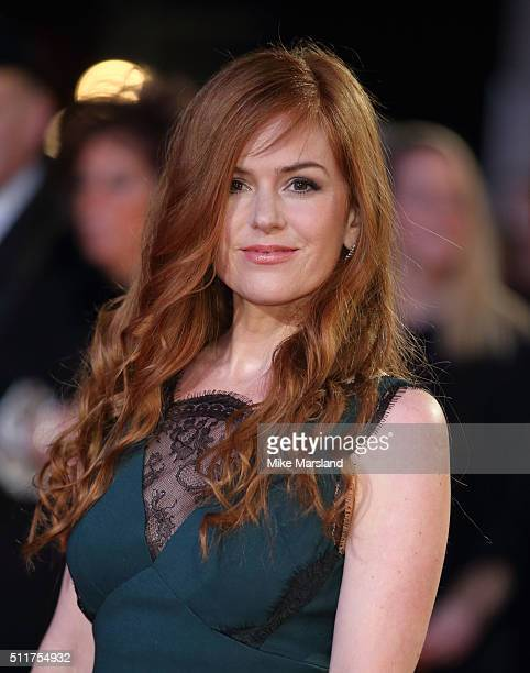 Isla Fisher arrives for the World premiere of 'Grimsby' at Odeon Leicester Square on February 22 2016 in London England