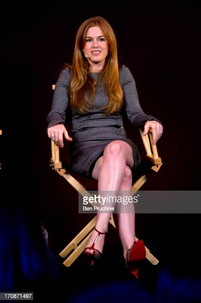 Isla Fisher attends a QA session about there new film 'Now You See Me' at Apple Store Regent Street on June 19 2013 in London England