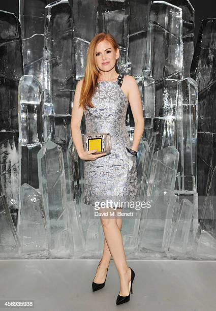 Isla Fisher attends the dinner hosted by Sandra Choi Creative Director of Jimmy Choo to unveil Jimmy Choo's new VICES collection and installation by...
