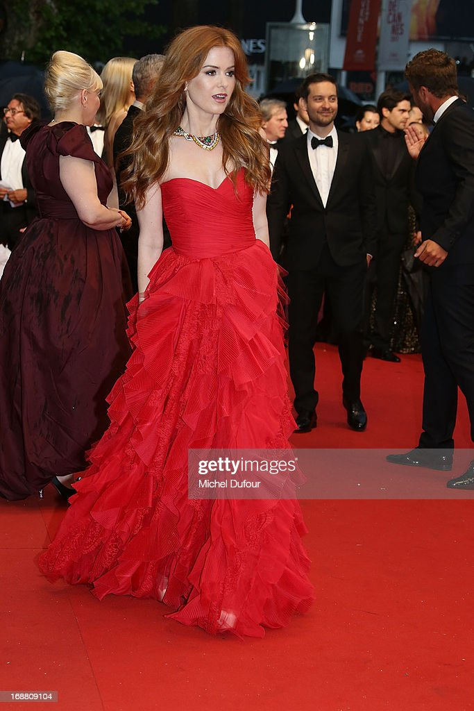 Isla Fisher attends the Opening Ceremony and 'The Great Gatsby' Premiere during the 66th Annual Cannes Film Festival on May 15, 2013 in Cannes, France.