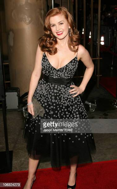 Isla Fisher during 'The Lookout' Los Angeles Premiere Arrivals at Egyptian Theater in Hollywood California United States