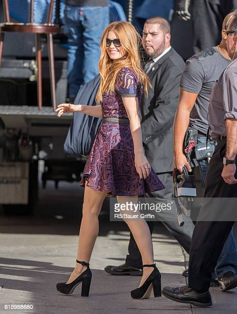 Isla Fisher is seen at 'Jimmy Kimmel Live' on October 20 2016 in Los Angeles California