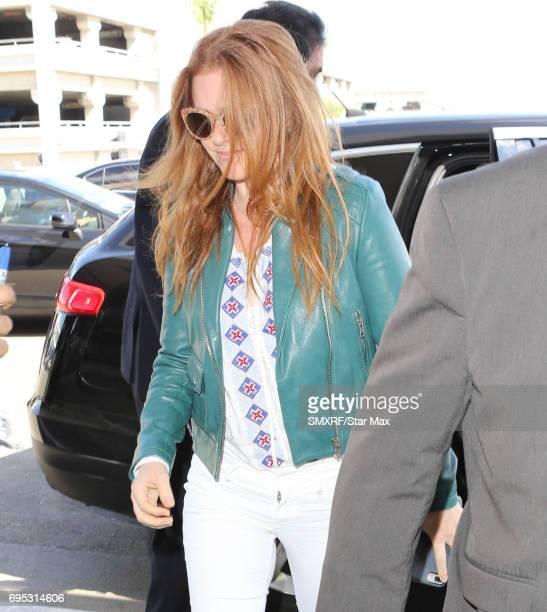 Isla Fisher is seen on June 12 2017 in Los Angeles California