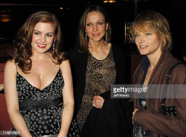 Isla Fisher Kate Beahan and Jodie Foster during 'The Lookout' Los Angeles Premiere After Party at Egyptian Theater in Hollywood California United...