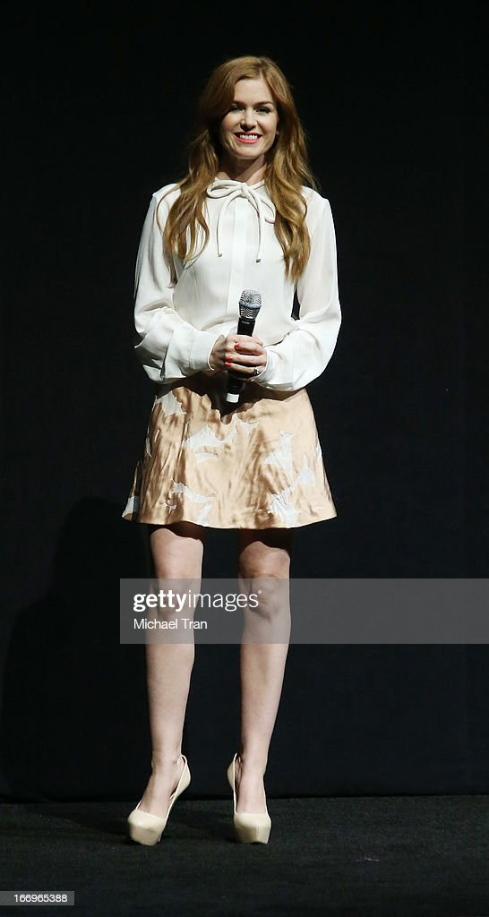 Isla Fisher speaks at a Lionsgate presentation to promote her upcoming film, 'Now You See Me' held at Caesars Palace during CinemaCon, the official convention of the National Association of Theatre Owners, on April 18, 2013 in Las Vegas, Nevada.