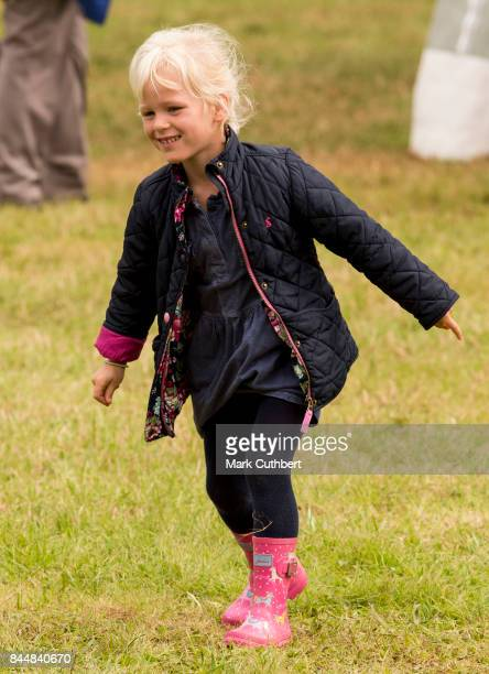 Isla Phillips at the Whatley Manor Horse Trials at Gatcombe Park on September 9 2017 in Stroud England