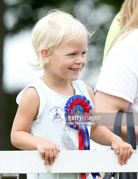 Isla Phillips attends day 1 of the Festival of British Eventing at Gatcombe Park on August 7 2015 in Stroud England