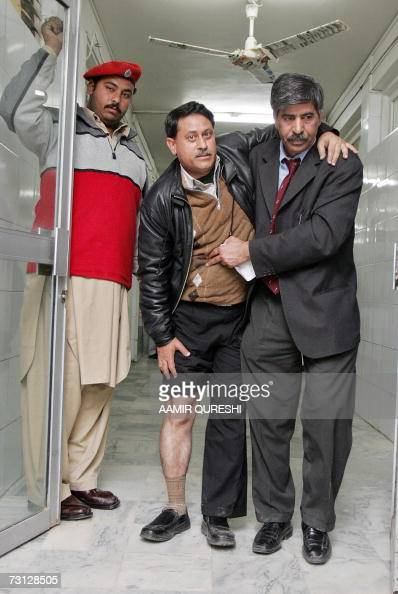 An injured Pakistani photojournalist is admitted to a hospital ward after he sustained injuries when police batoncharged journalists covering a...