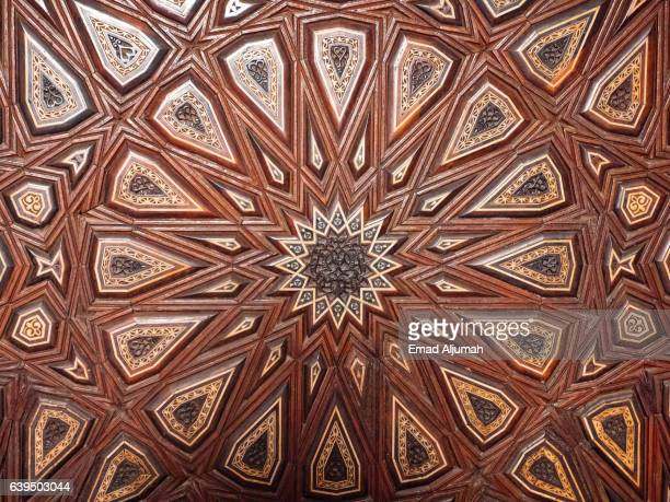 Islamic decoration at Sultan Hassan Mosque and Madrasa, Cairo, Al Qahirah, Egypt