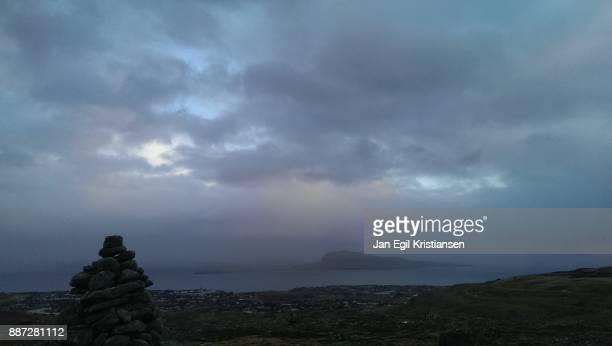 Island behind a cairn