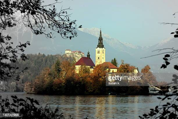 Island Bled in autumn