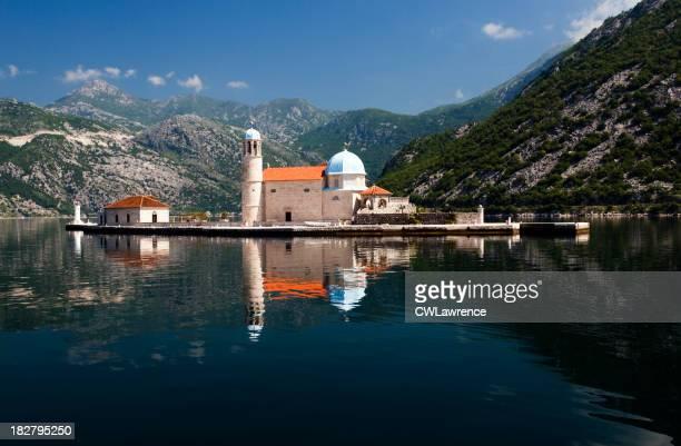 Insel Kirche und Bucht von Kotor, Montenegro