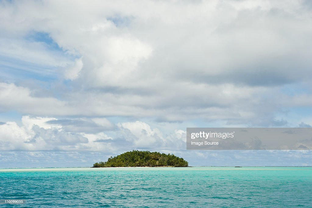 Island in South Pacific Ocean : Stock Photo