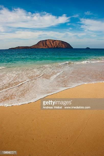 Island Montana Clara from beach La Concha