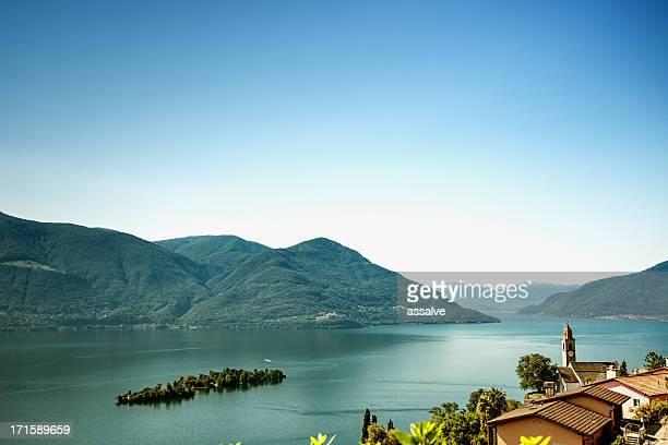 Island of Brissago, village Ronco sopra Ascona, Lake Maggiore Switzerland