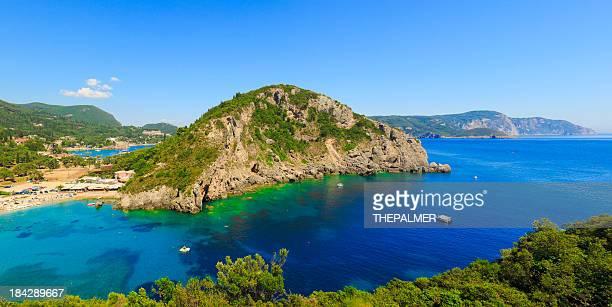 Island of Corfu and beach