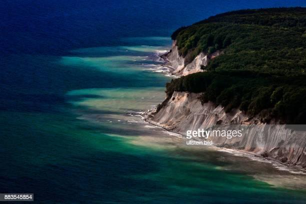 Island of Ruegen Jasmund National Park chalk cliffs near Sassnitz MecklenburgWestern Pomerania Germany aerial view June 05 2015