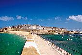 Island of Saint Malo, North Brittany, France