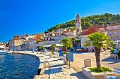 Island of Vis yachting waterfront view, Dalmatia, Croatia