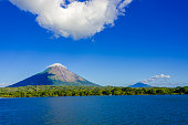 Island Ometepe in Lake with vulcano in Nicaragua
