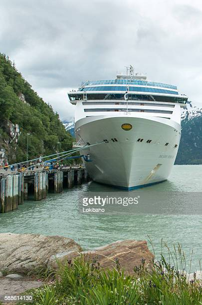 Island Princess Cruise Ship at Skagway
