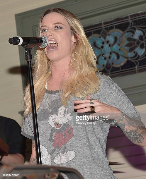 Island recording artist Gin Wigmore performs at Island Records Presents Island Life At No Vacancy on April 8 2015 in Los Angeles California
