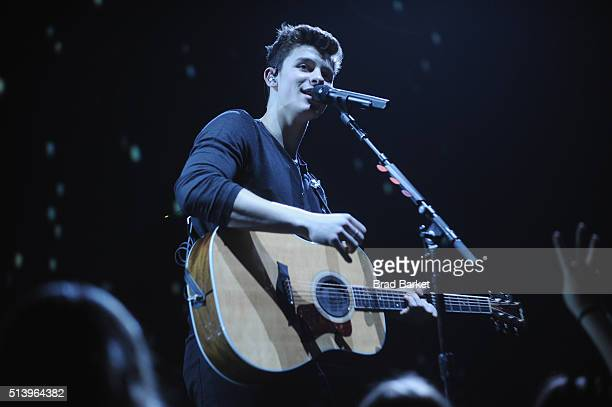 Island Records Artist Shawn Mendes performs at sold out Radio City Music Hall on March 5 2016 in New York City