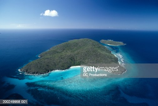 Island, St. Thomas, US Virgin Islands, aerial view