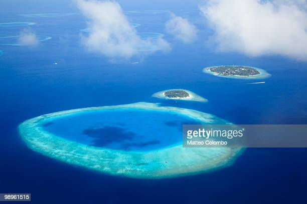 Islands and lagoon in the Maldives