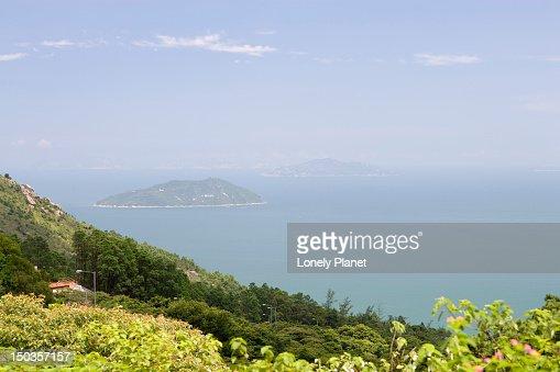 Islands off Lantau Island coast.