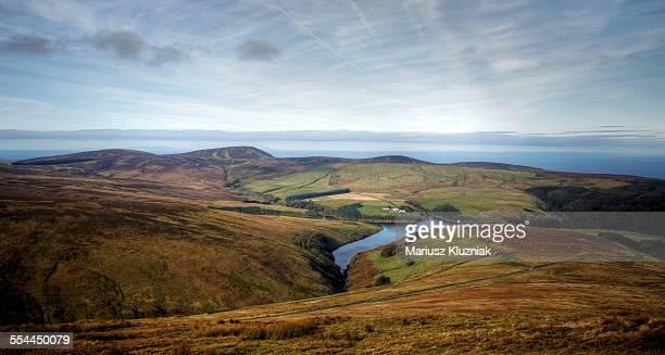 Isle of Man autumn landscape view of Irish Sea