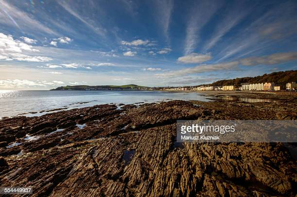 Isle of Man Douglas beach at low tide