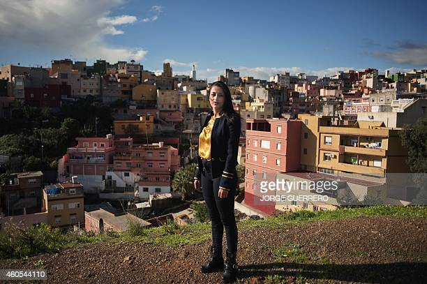 Isma Mohamed secretary of the association of the Residents of El Principe poses in Ceuta on December 4 2014 This 99% Muslim area in Ceuta...