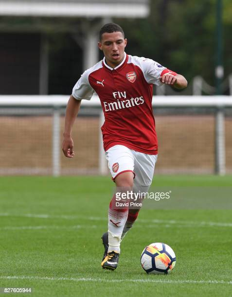Ismael Bennacer of Arsenal during the match between Arsenal U23 and Watford U23 at London Colney on August 8 2017 in St Albans England
