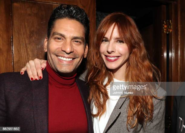 Ismael Cala and Eglantina Zingg attend the Eva Hughes Celebration of The Arrival Of Fall at The Standard Grill on November 29 2017 in New York City