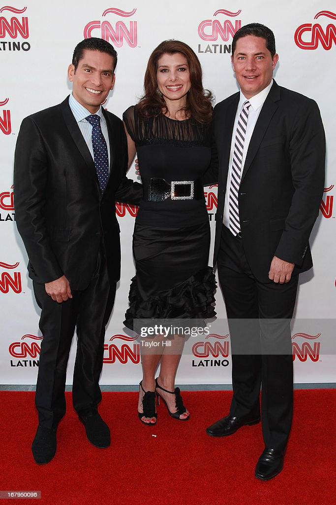 Ismael Cala, Patricia Janiot, and Fernando del Rincon attend the CNN en Espanol and CNN Latino 2013 Upfront at Ink 48 Hotel on May 2, 2013 in New York City.