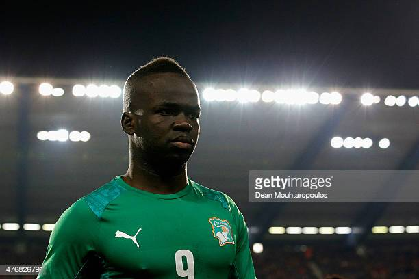 Ismael Cheick Tiote of Ivory Coast looks on during the International Friendly match between Belgium and Ivory Coast at The King Baudouin Stadium on...