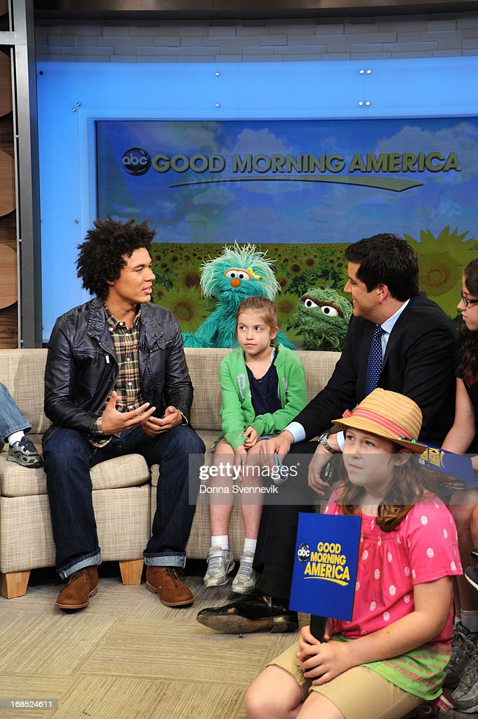 AMERICA - Ismael Cruz Cordova ('Mando') of Sesame Street visits 'Good Morning America,' 5/10/13, airing on the ABC Television Network. (Photo by Donna Svennevik/ABC via Getty Images) ISMAEL CRUZ CORDOVA, JOSH ELLIOTT