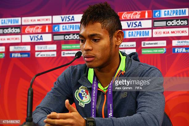 Ismael Diaz attends a Panama press conference at Wellington Regional Stadium on June 1 2015 in Wellington New Zealand